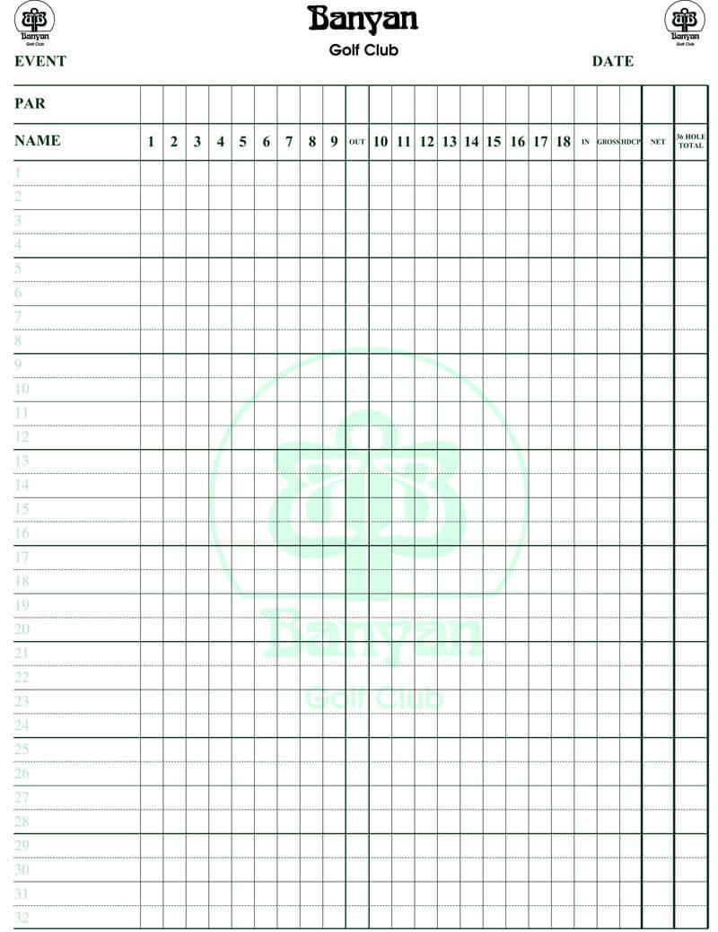 Golf Score Card Template - Yupar.magdalene-Project throughout Golf Score Cards Template