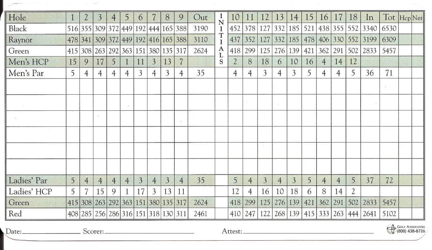 Golf Scorecard Template | Template Business inside Golf Score Cards Template