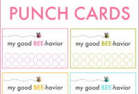 Good Behavior Punch Cards   Behavior Punch Cards, Kids with Free Printable Punch Card Template