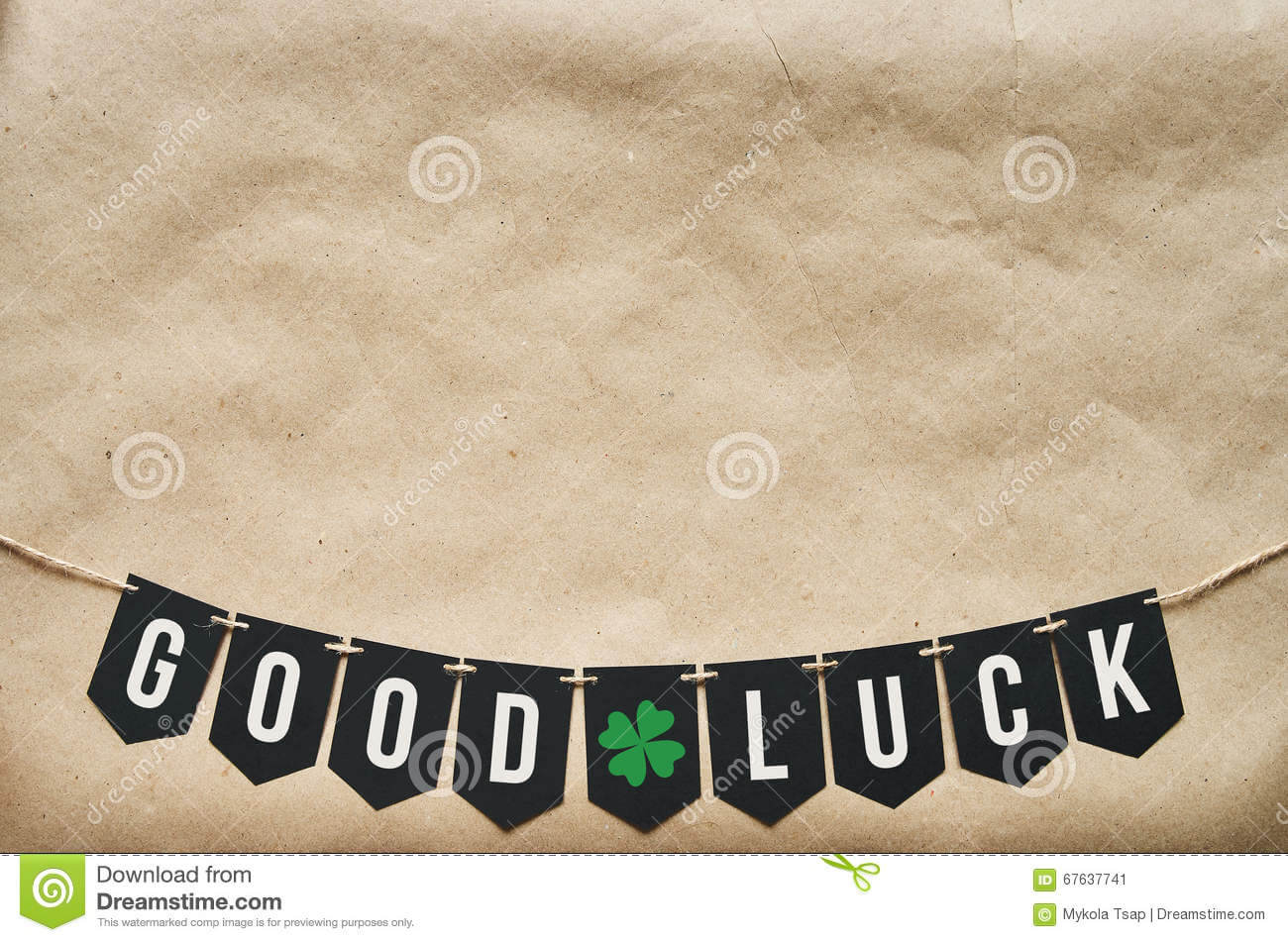 Good Luck Banner Lettering Stock Image. Image Of Craft Pertaining To Good Luck Banner Template