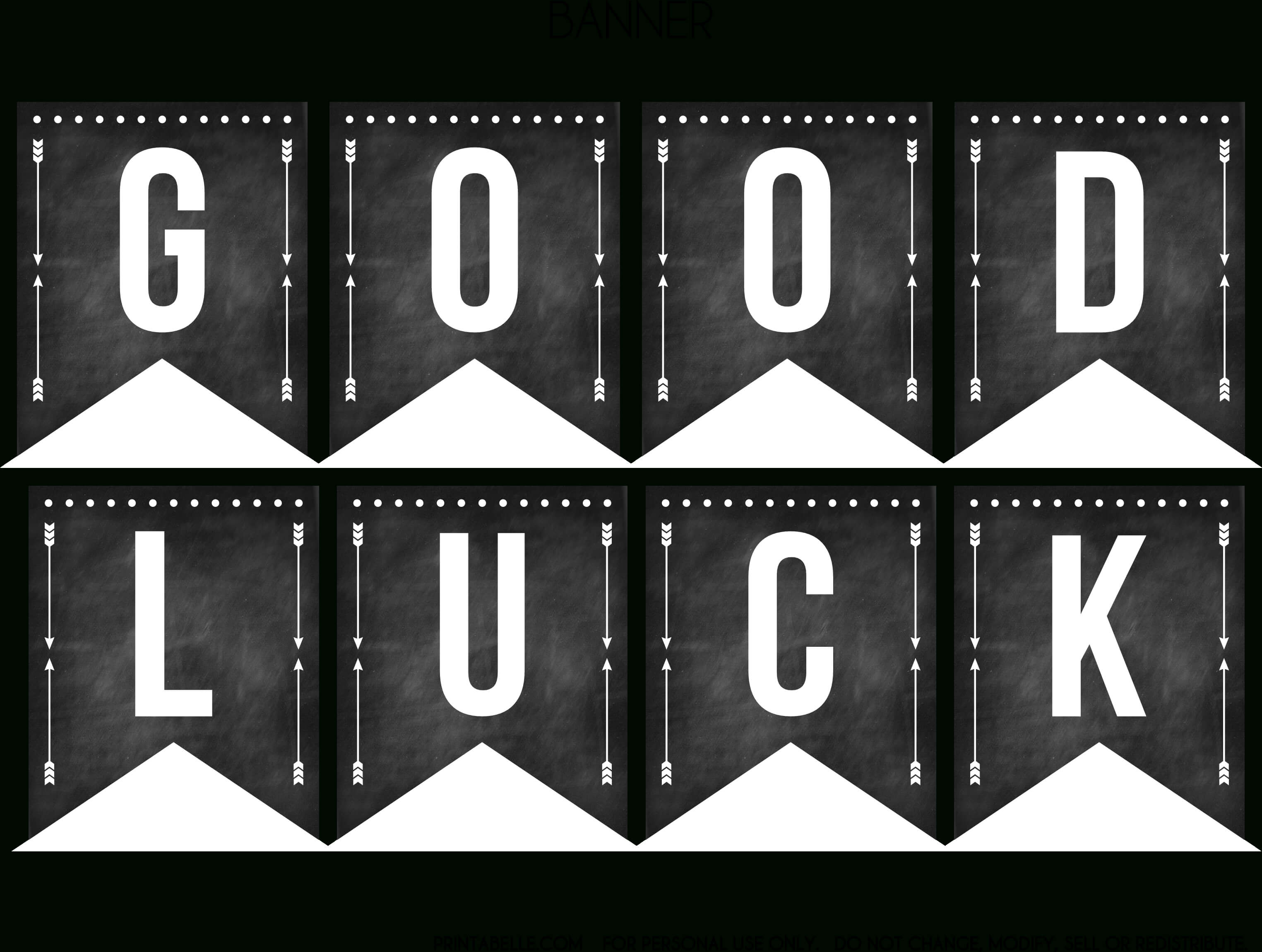 Good Luck Banner Template Best Template Examples In Good Luck Banner Template