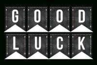 Good Luck Banner Template Best Template Examples | Sweet In regarding Good Luck Banner Template