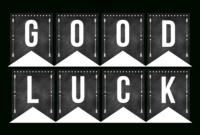 Good Luck Banner Template Best Template Examples | Sweet intended for Good Luck Banner Template