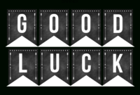 Good Luck Banner Template Best Template Examples   Sweet with regard to Graduation Banner Template