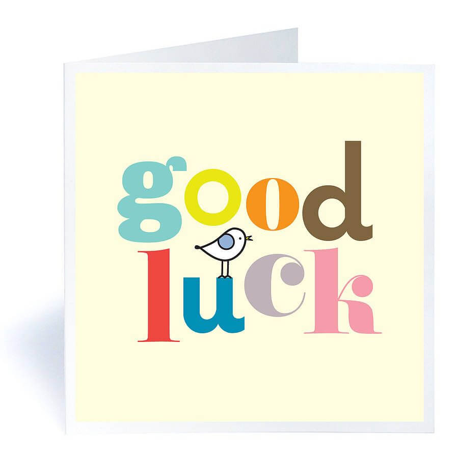 """Good Luck"""" 