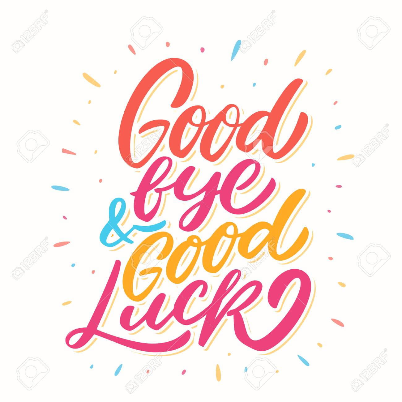 Goodbye And Good Luck. Farewell Card. intended for Good Luck Card Template