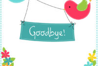 Goodbye From Your Colleagues – Good Luck Card (Free pertaining to Good Luck Card Templates