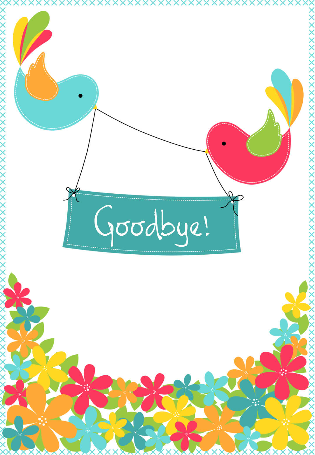 Goodbye From Your Colleagues - Good Luck Card (Free Regarding Goodbye Card Template