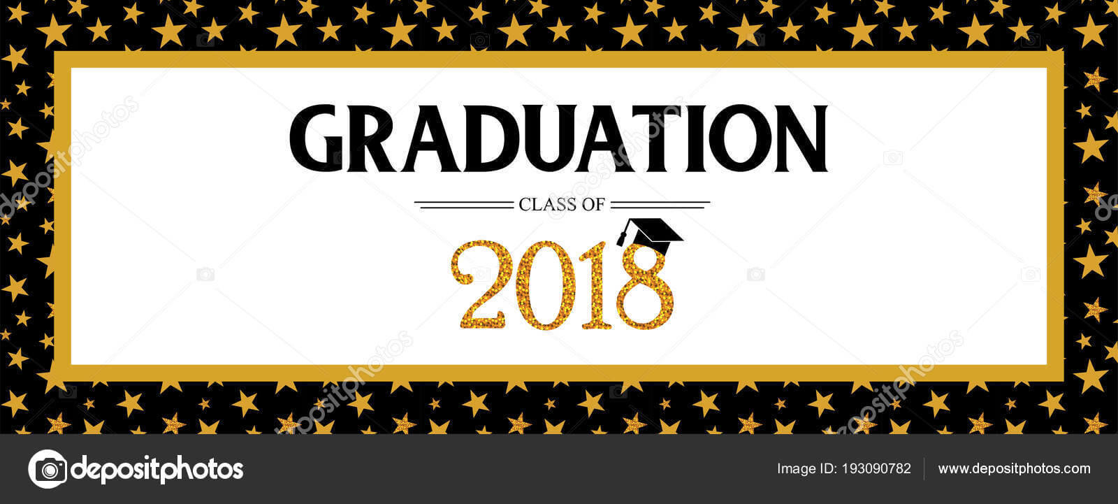 Graduation Banner Template | Graduation Class Of 2018 Throughout Graduation Banner Template