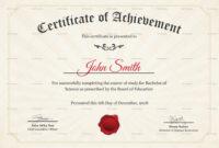 Graduation Degree Certificate Template intended for College Graduation Certificate Template