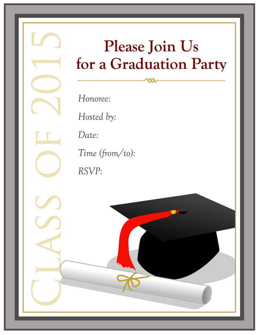 Graduation Invitation Templates - 40+ Free Graduation In Free Graduation Invitation Templates For Word