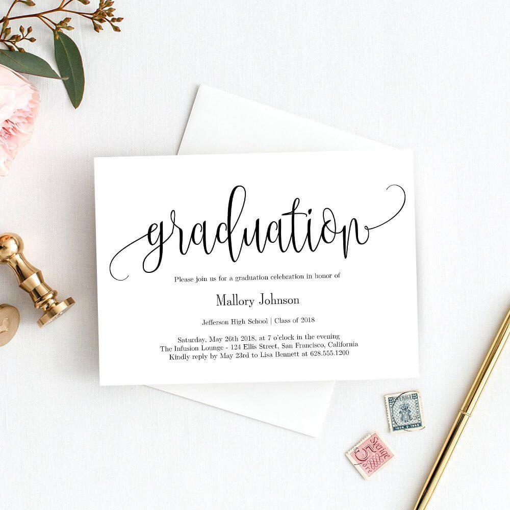 Graduation Party Invitation Template - Printable Graduation regarding Celebrate It Templates Place Cards