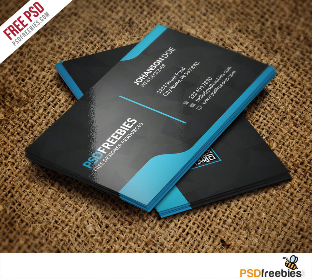 Graphic Designer Business Card Template Free Psd regarding Calling Card Psd Template