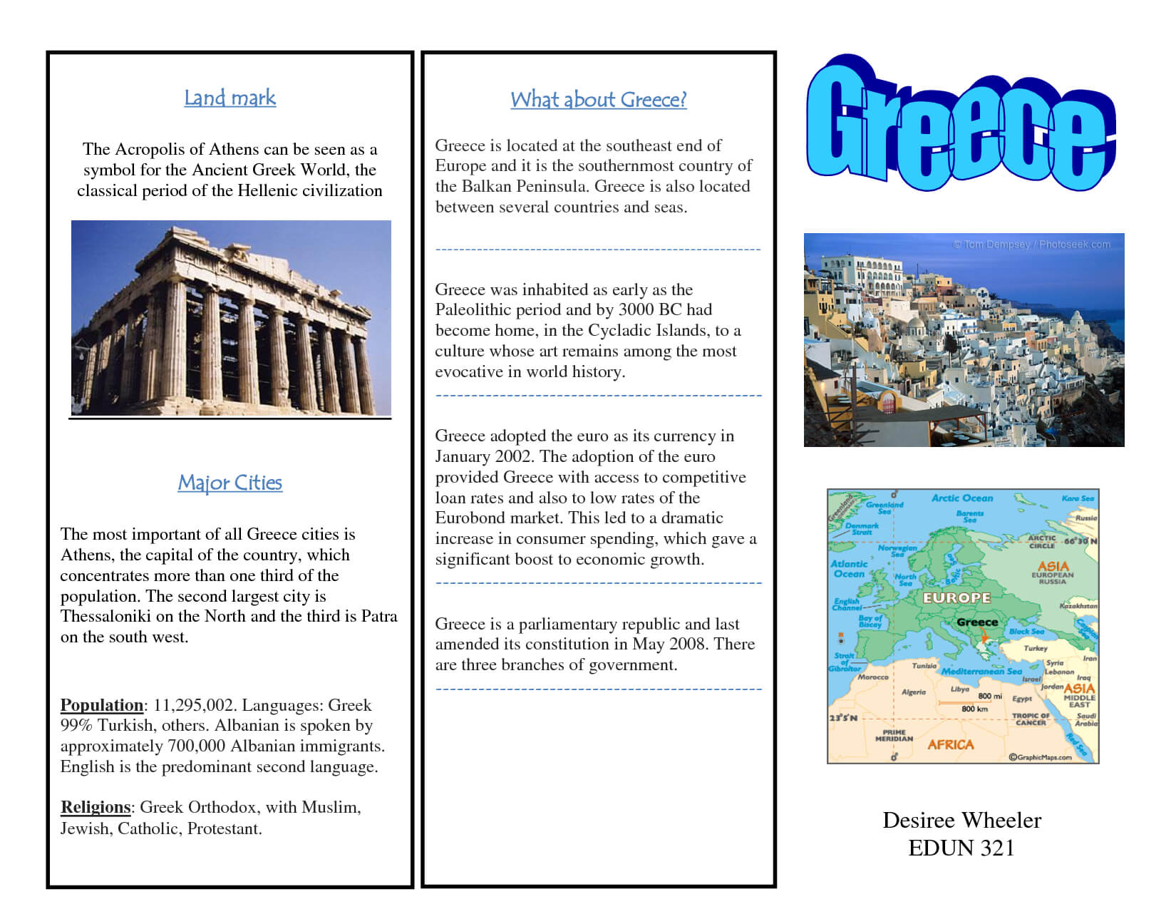 Greece Travel Brochure/kids Writing Project | Travel With Regard To Travel Brochure Template Ks2
