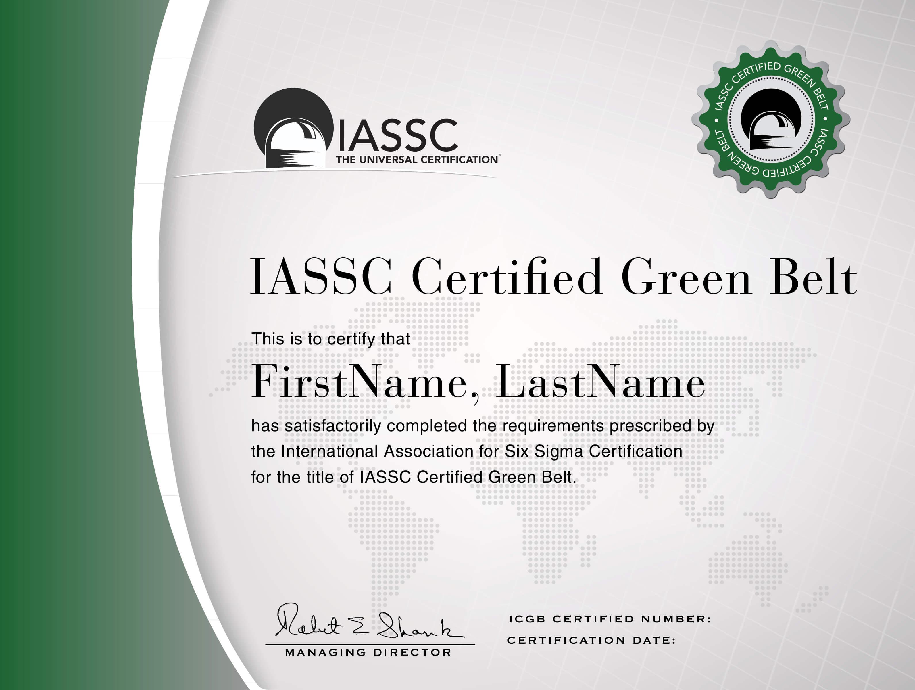 Green Belt Certification | Lean Six Sigma, Six Sigma Tools Throughout Green Belt Certificate Template