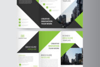 Green Business Trifold Leaflet Brochure Template pertaining to Free Tri Fold Business Brochure Templates