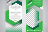 Green Roll Up Banner Stand Design Template pertaining to Banner Stand Design Templates