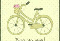 Greeting Card Template With Bike Illustration And regarding Bon Voyage Card Template