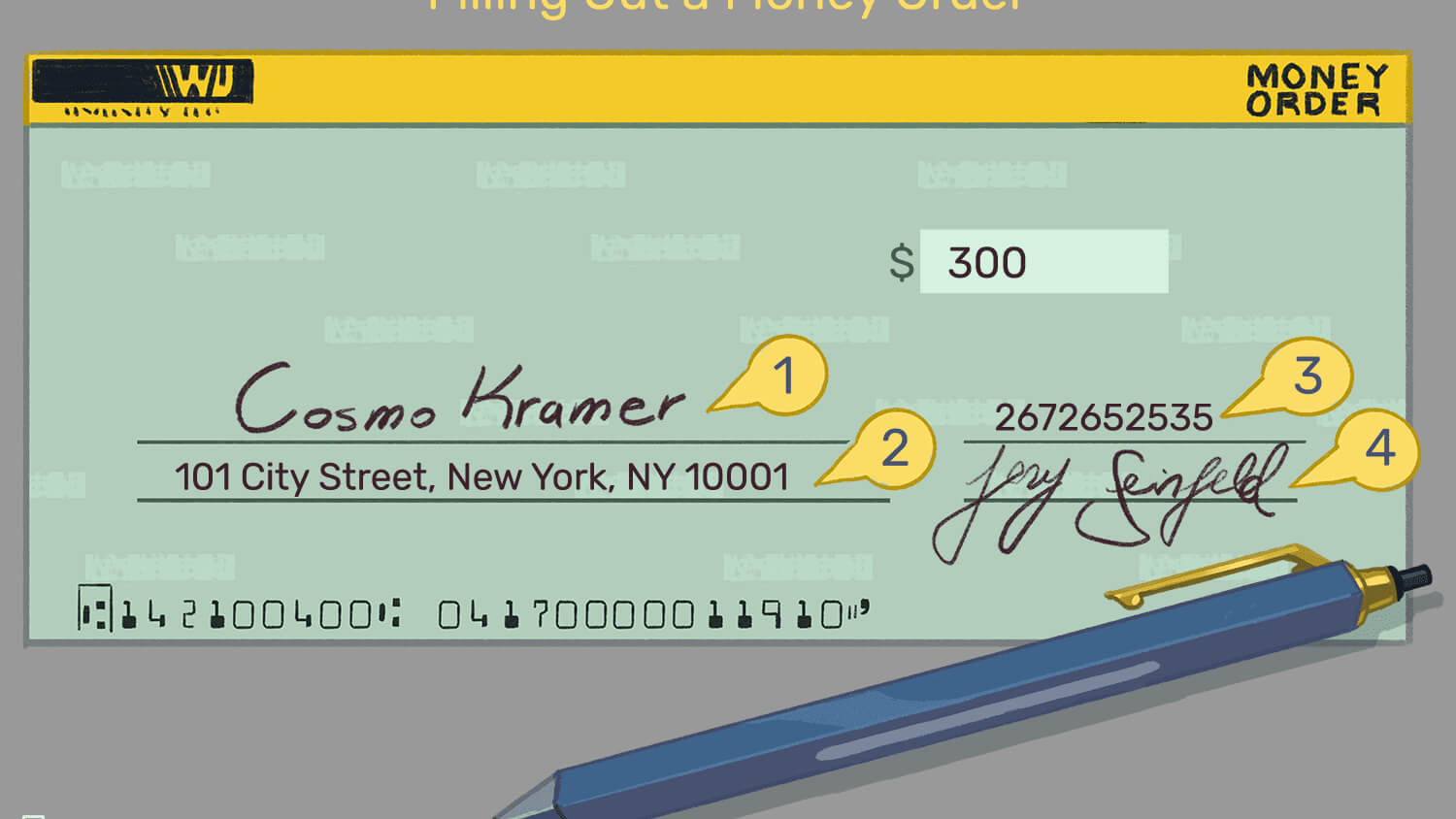 Guide To Filling Out A Money Order for Blank Money Order Template