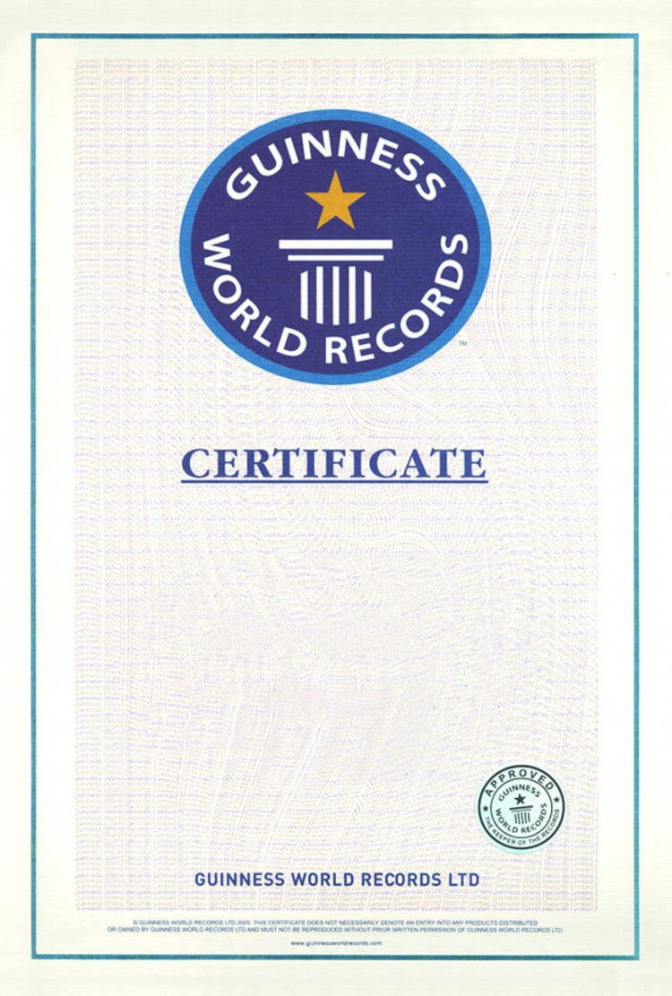 Guinness World Record Certificate Template – Alanbrooks Within Guinness World Record Certificate Template