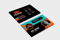 Gym Fitness Membership Card Template #ad , #ad, #illustrator for Gym Membership Card Template