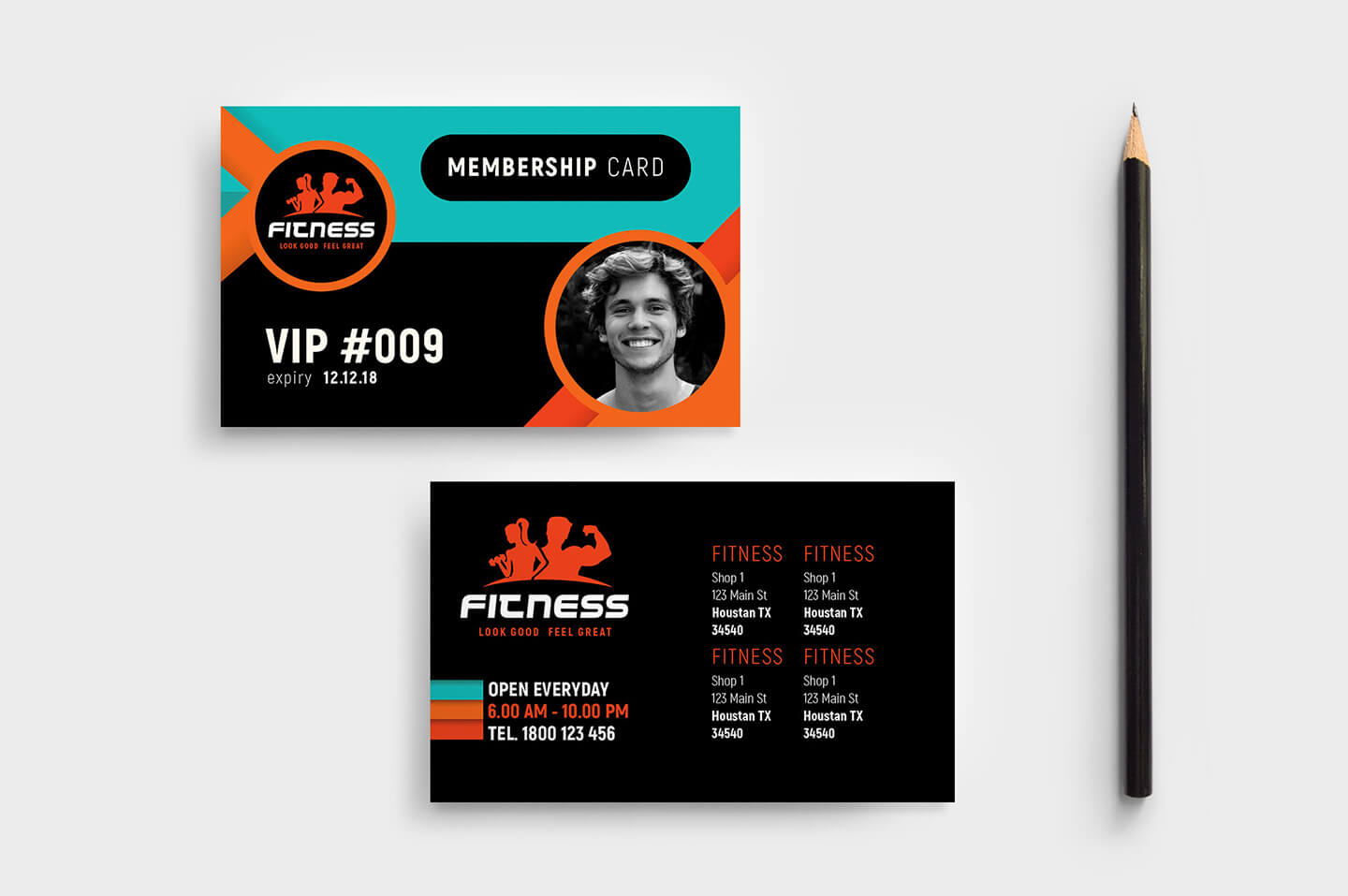 Gym / Fitness Membership Card Template In Psd, Ai & Vector Within Gym Membership Card Template