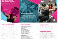 Gym Tri-Fold Brochure Template with Membership Brochure Template