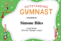 Gymnastics Quotes   Simone Biles, Gabby Douglas & Aly with regard to Gymnastics Certificate Template