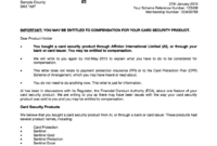 Had Sentinel Card Protection But Not Received A Redress for Ppi Claim Letter Template For Credit Card