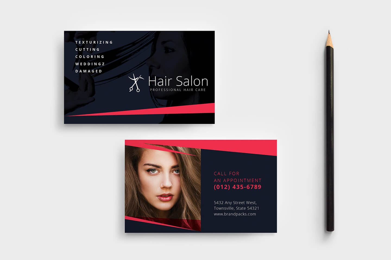 Hair Salon Business Card Template In Psd, Ai & Vector inside Hairdresser Business Card Templates Free