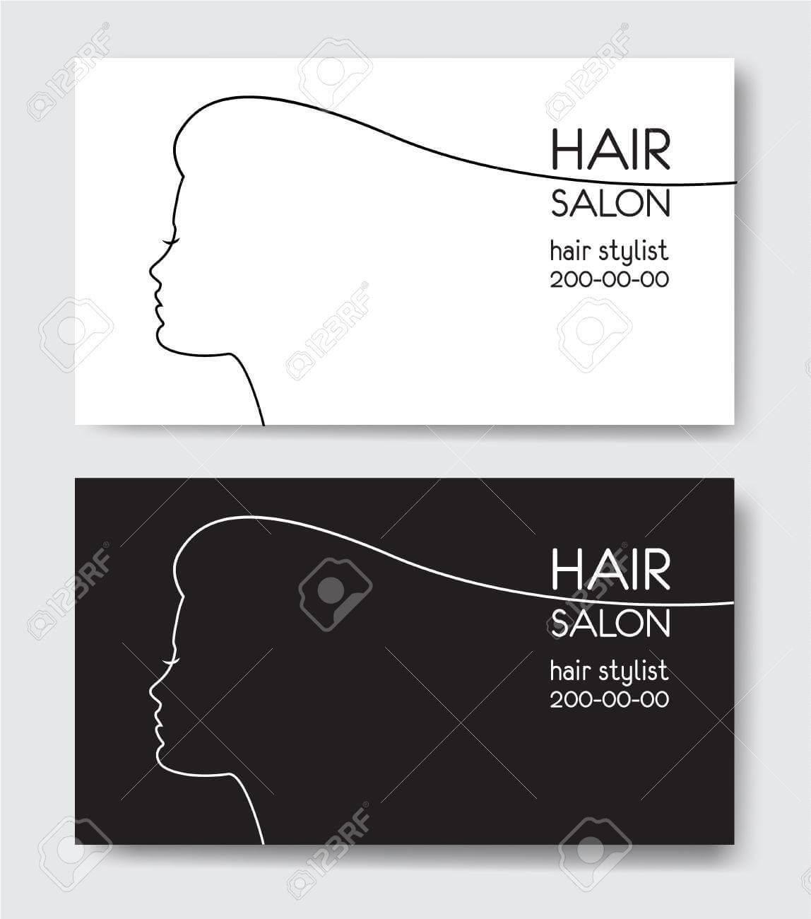 Hair Salon Business Card Templates. inside Hair Salon Business Card Template