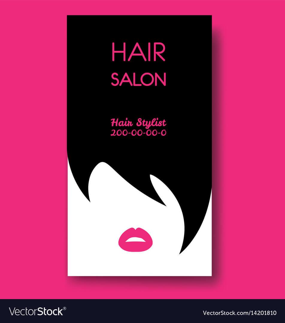 Hair Salon Business Card Templates With Black Hair with Hair Salon Business Card Template