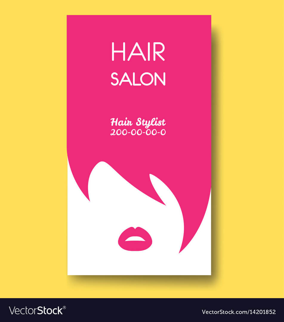 Hair Salon Business Card Templates With Pink Hair regarding Hair Salon Business Card Template