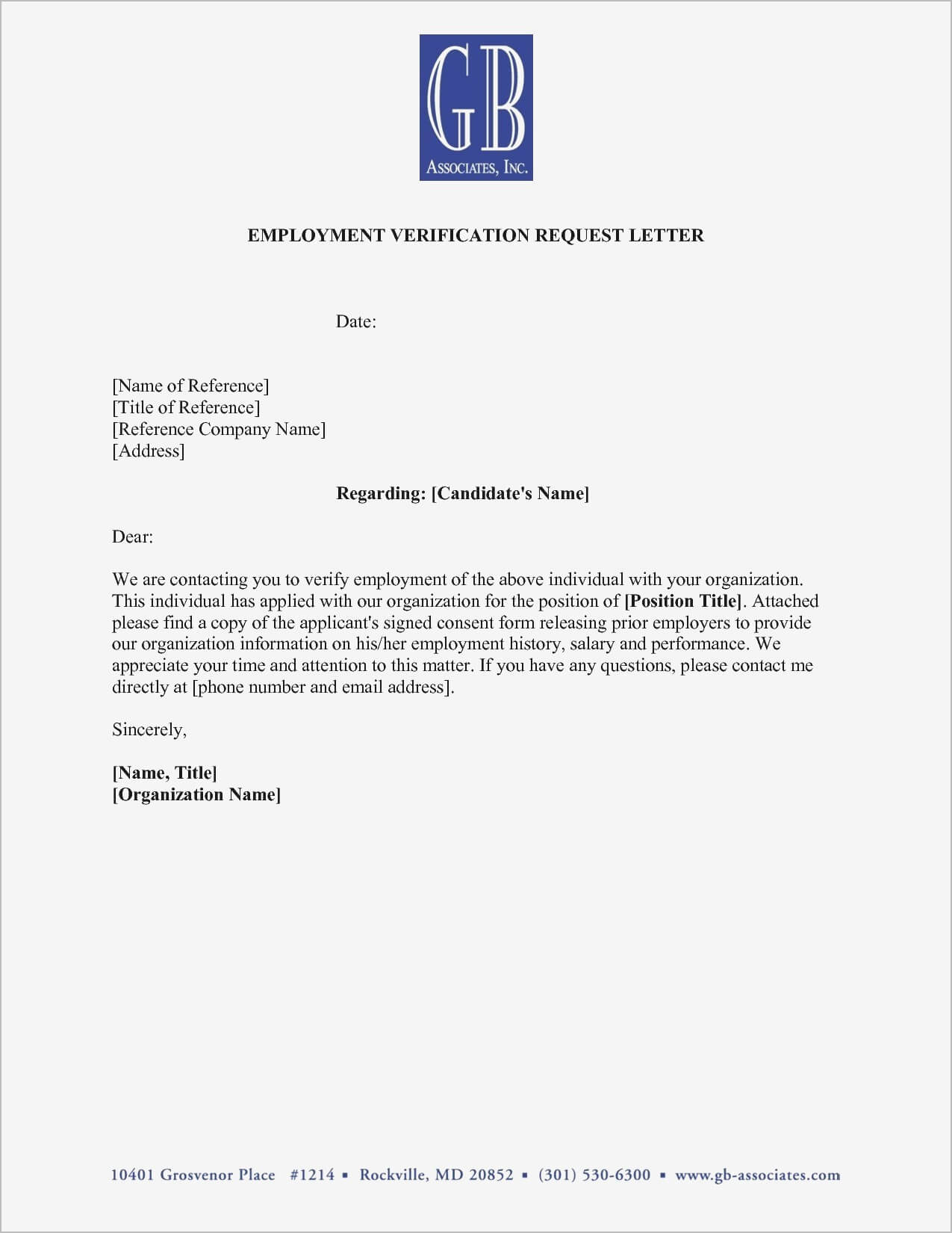 Hairstyles : Employment Verification Letter Sample Doc pertaining to Employment Verification Letter Template Word