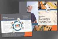 Half Fold Brochure Template For Builders Association. Order in Half Page Brochure Template