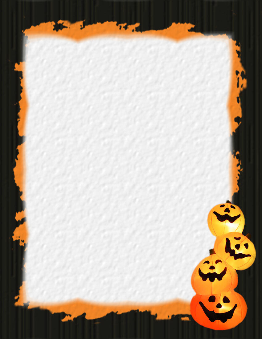 Halloween 1 Free Stationery Template Downloads With Regard To Free Halloween Templates For Word