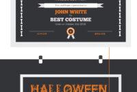 Halloween Best Costume Award Certificate Template for Halloween Certificate Template