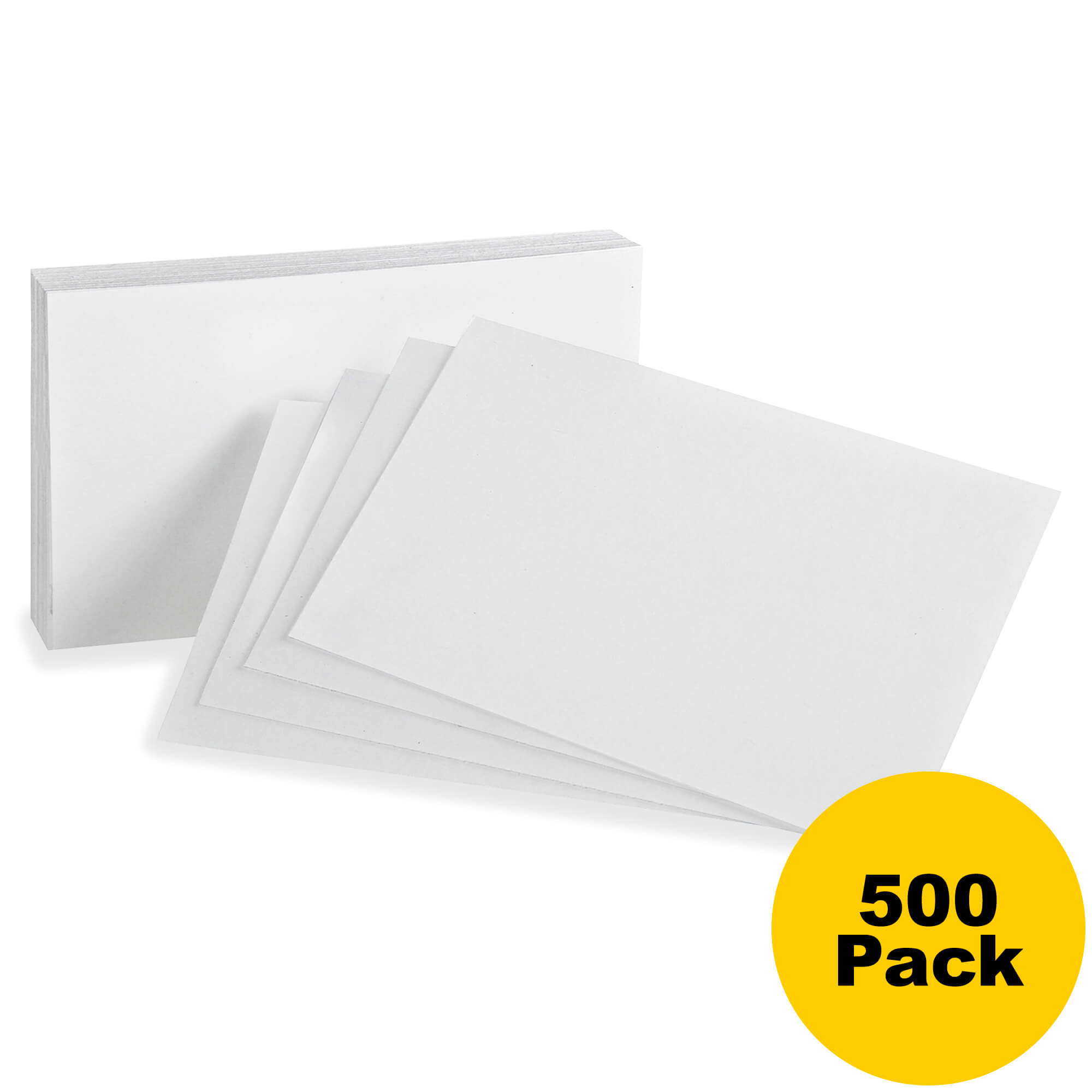 Hamelin Oxford Printable Index Card - 3 X 5 - 85 Lb Basis Weight - Recycled  - 10% Recycled Content - 500 / Bundle - White within 3 By 5 Index Card Template