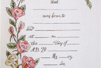 Hand Drawn & Painted Birth Certificate (Perfect For A Little with Birth Certificate Fake Template