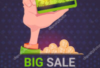Hand Holding Credit Card Over Big Sale St. Patrick Day In Credit Card Templates For Sale