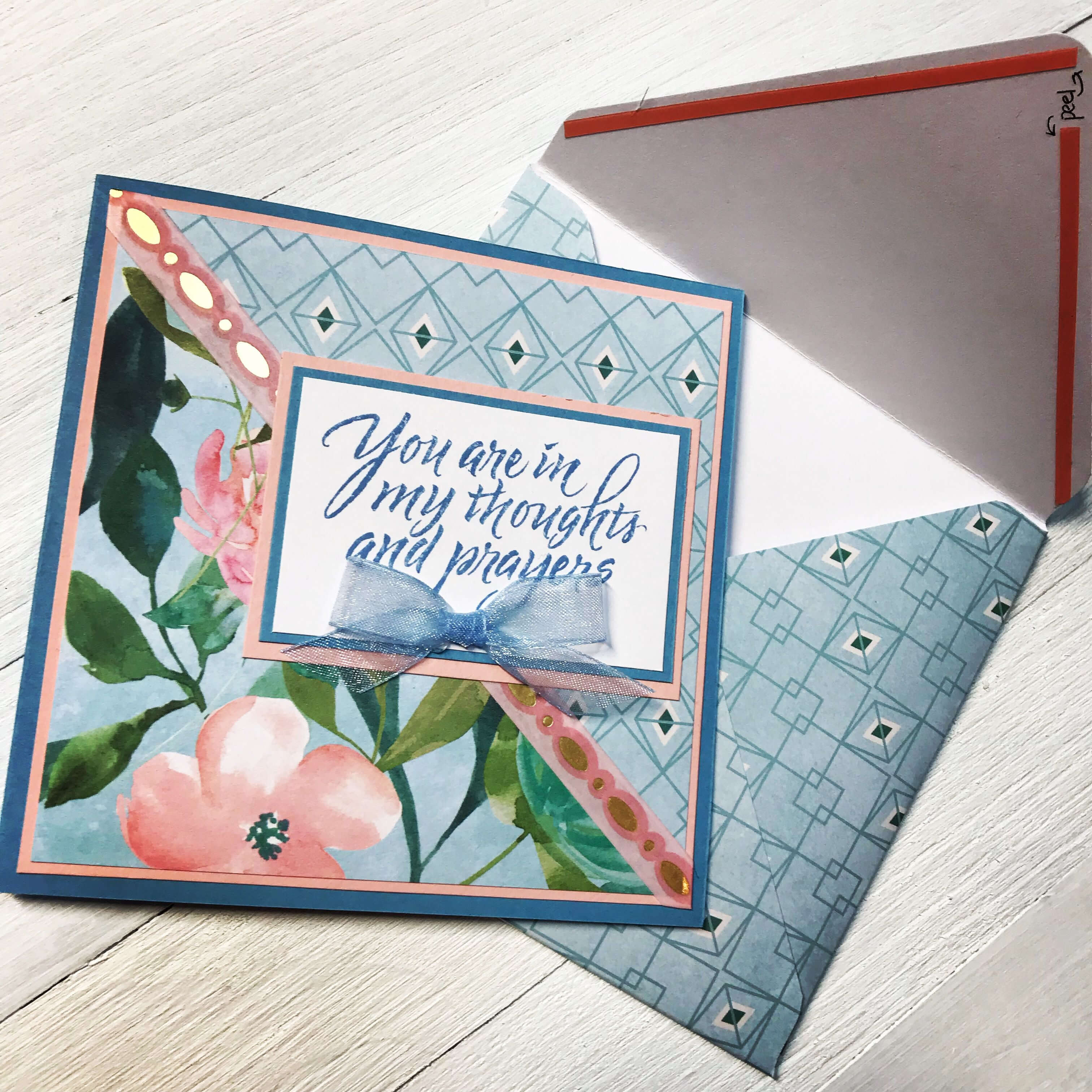 Handmade Card Using Spring Posies Paper Padrecollections for Recollections Card Template