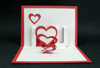 Handmade Valentine's Day Card – Diy 'i Love You' Pop Up Heart Love Card  Tutorial in I Love You Pop Up Card Template
