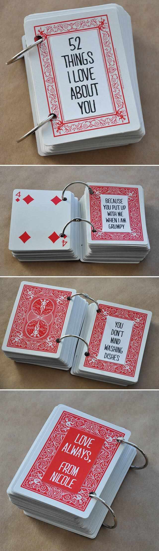 Hanna Megan (Hanna_Garcia77) On Pinterest with regard to 52 Things I Love About You Deck Of Cards Template