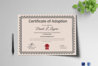 Happy Adoption Certificate Template in Adoption Certificate Template