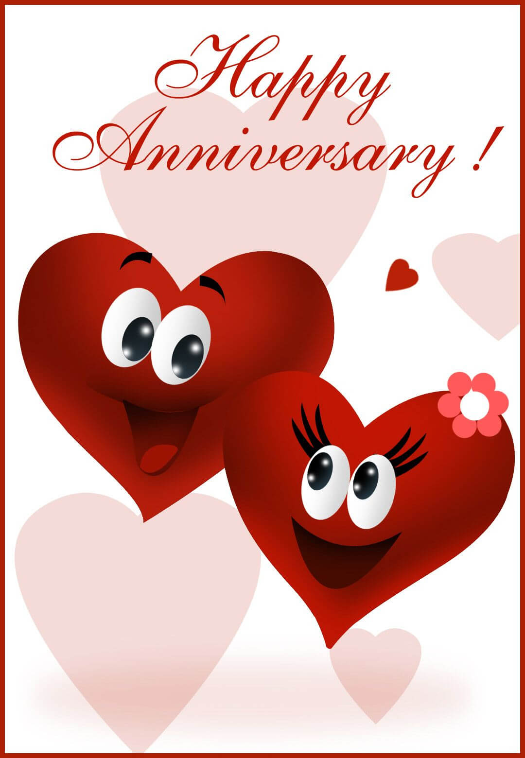 Happy Anniversary - Happy Anniversary Card (Free | Happy For Word Anniversary Card Template