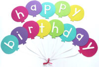 Happy Birthday Banner Diy Template   Balloon Birthday Banner regarding Free Happy Birthday Banner Templates Download