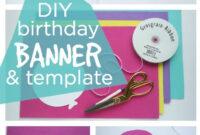 Happy Birthday Banner Diy Template | Birthday Banner regarding Diy Birthday Banner Template
