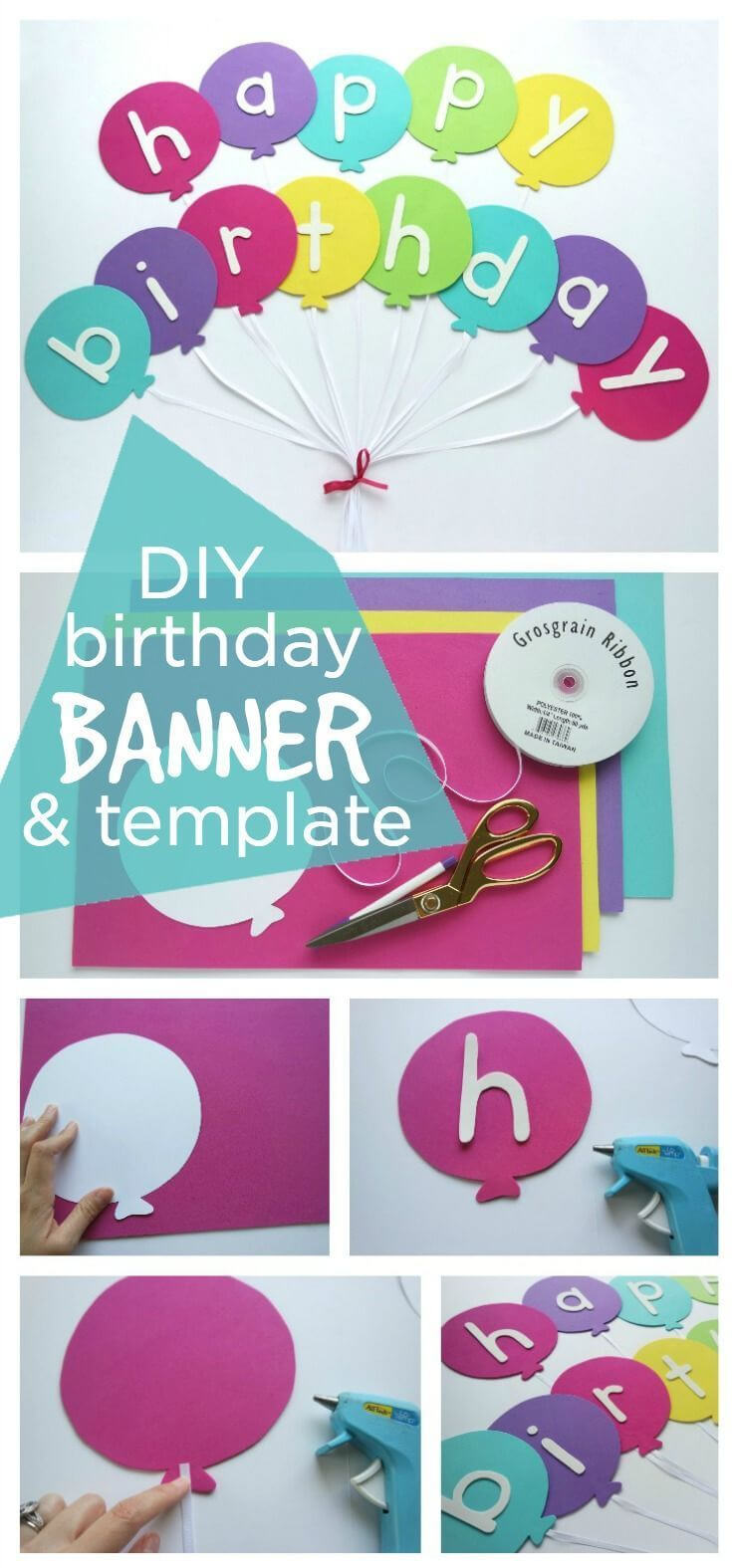 Happy Birthday Banner Diy Template | Diy Party Ideas  Group Intended For Diy Party Banner Template