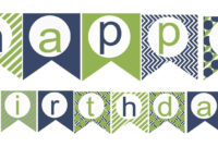 Happy Birthday Banner Template Printable   Happy Birthday within Free Happy Birthday Banner Templates Download