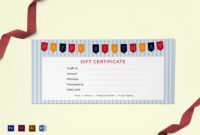 Happy Birthday Gift Certificate Template with regard to Gift Certificate Template Indesign